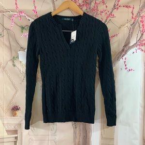 Lauren Ralph Lauren Black Cable knit Sweater